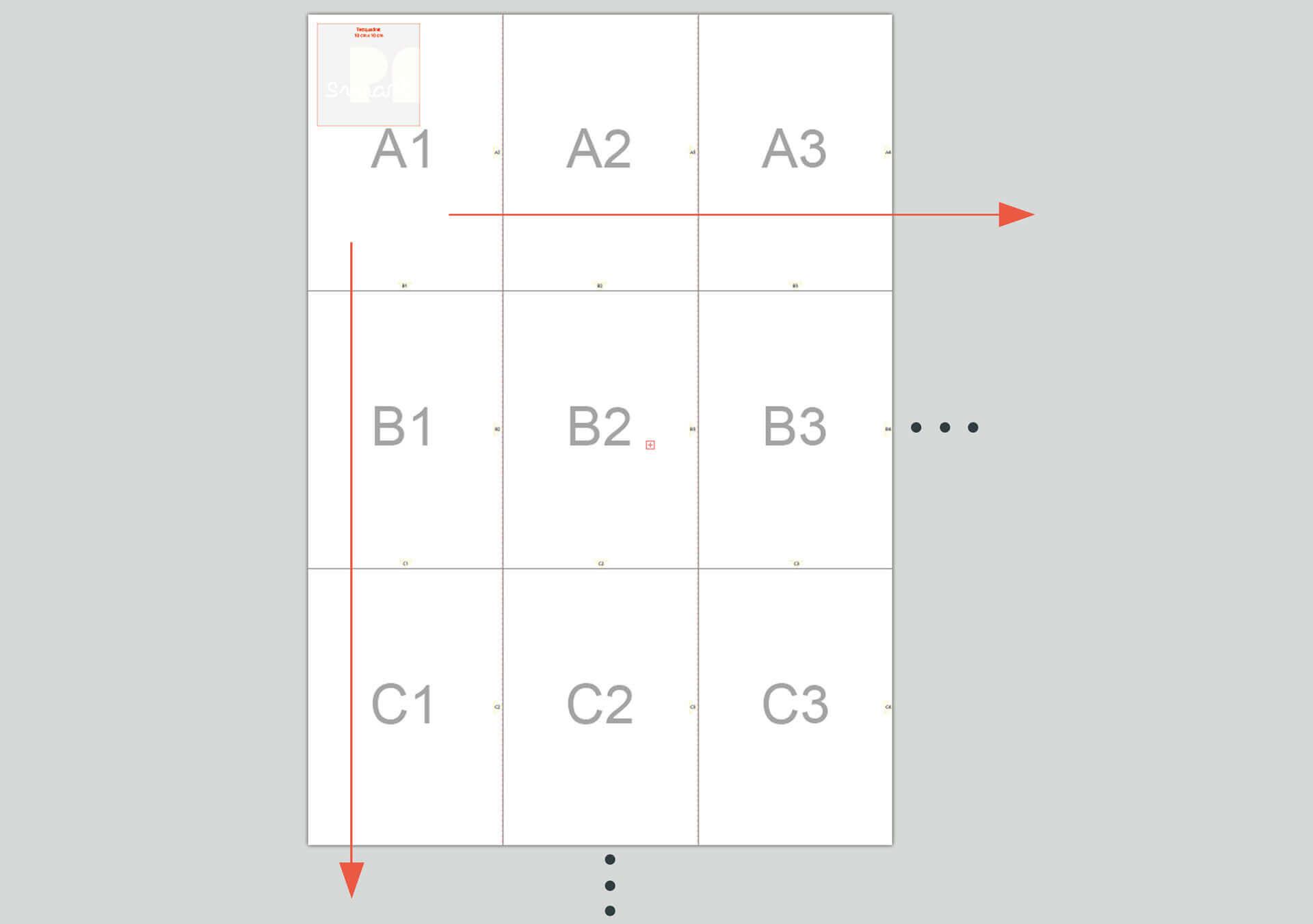 smartpattern Systematik zum Zusammensetzen der PDF Seiten eines smartPATTERN Schnittmuster