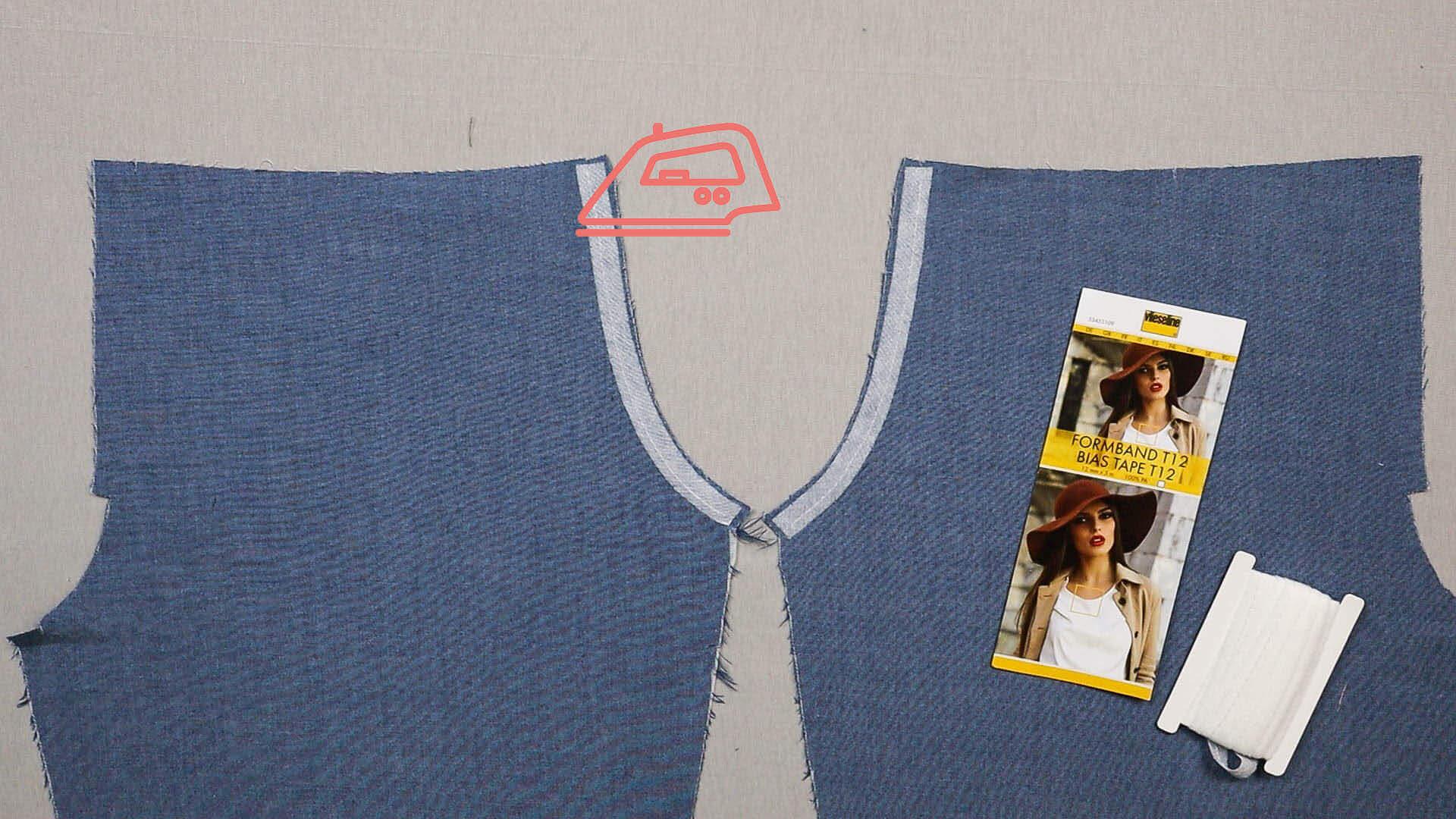 Tascheneingriff mit Kantenband sichern