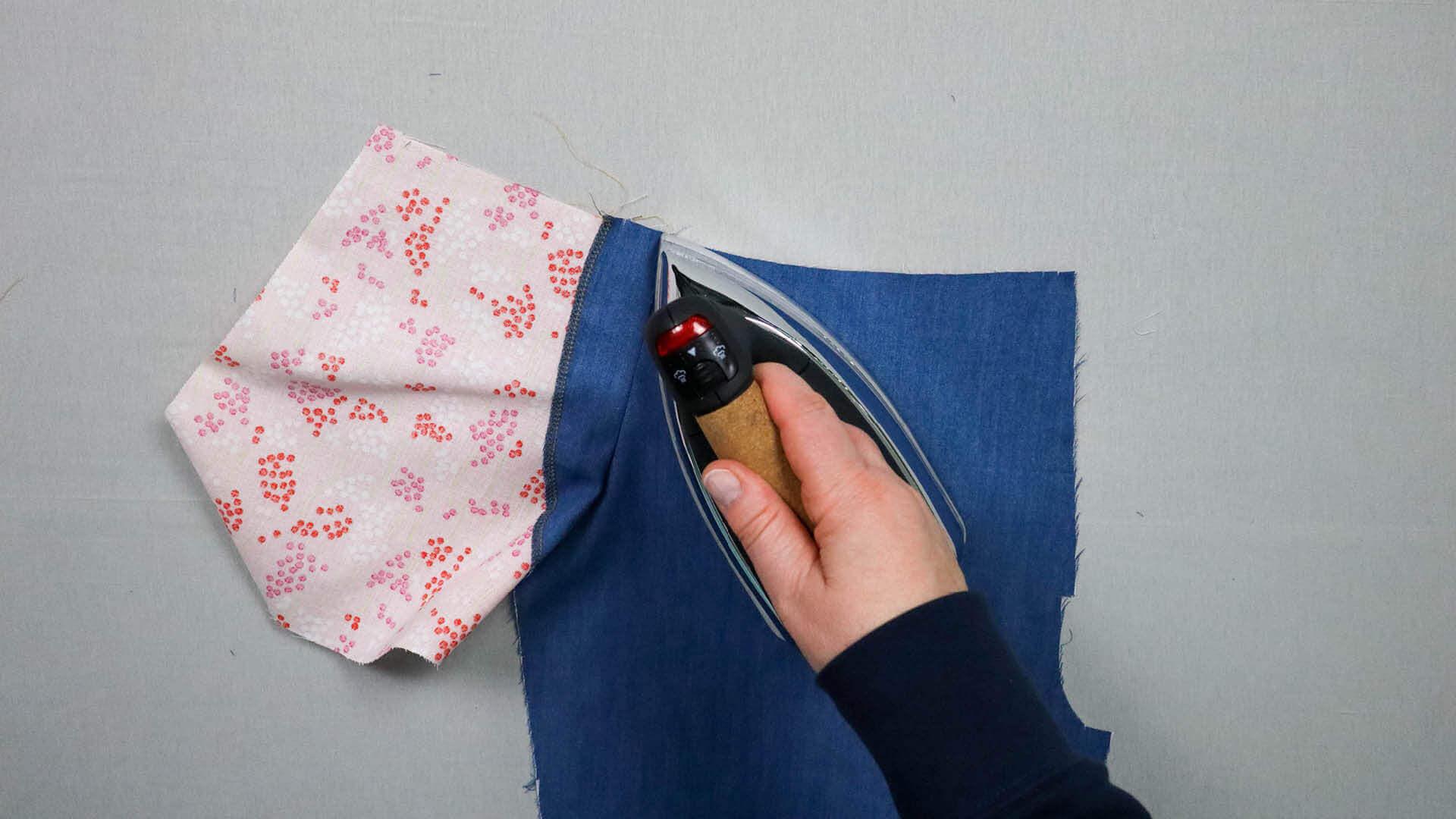 Tascheneingriff überbügeln