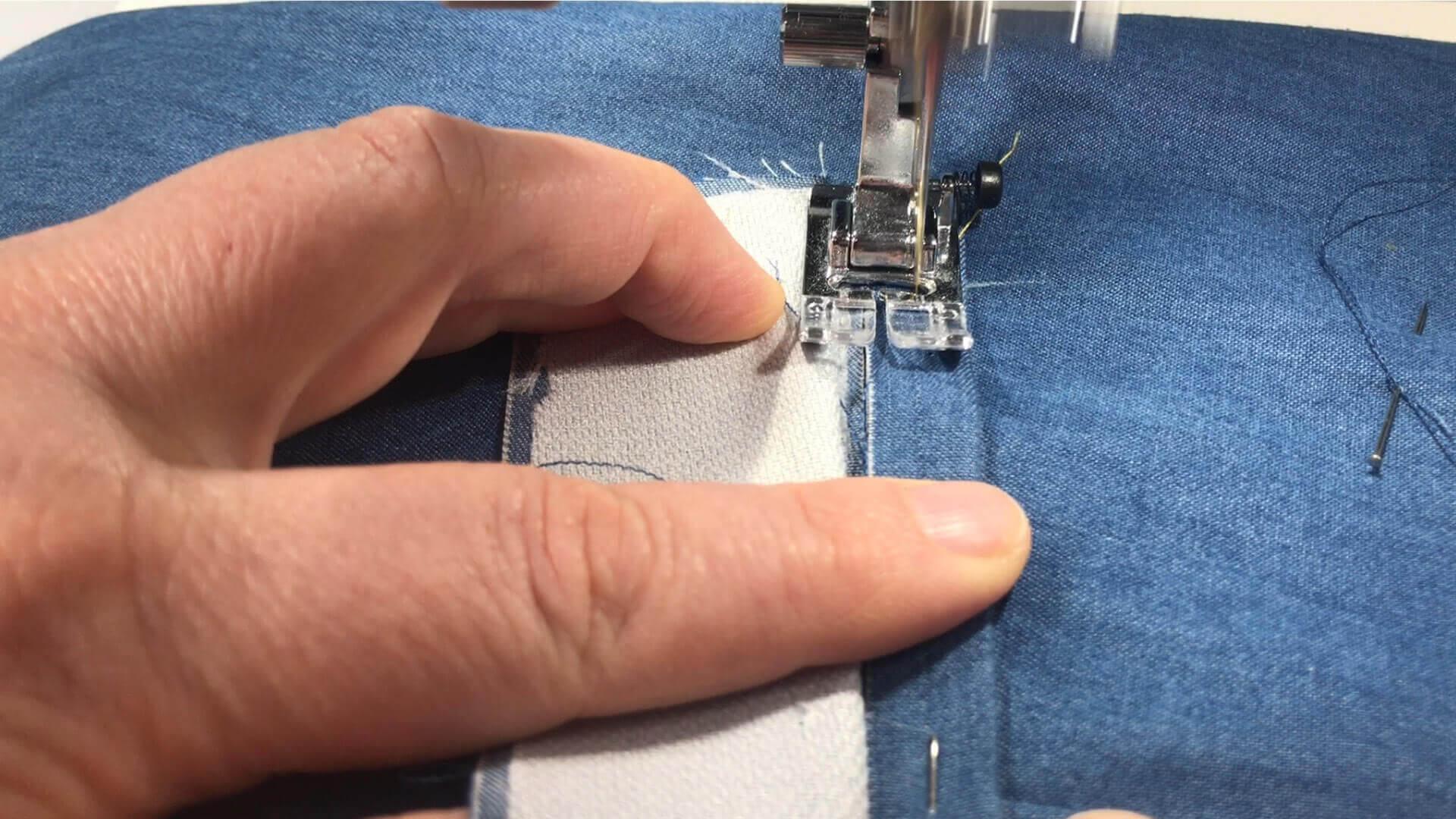 Nähanleitung Doppelpaspeltasche- Taschenpaspel aufsteppen