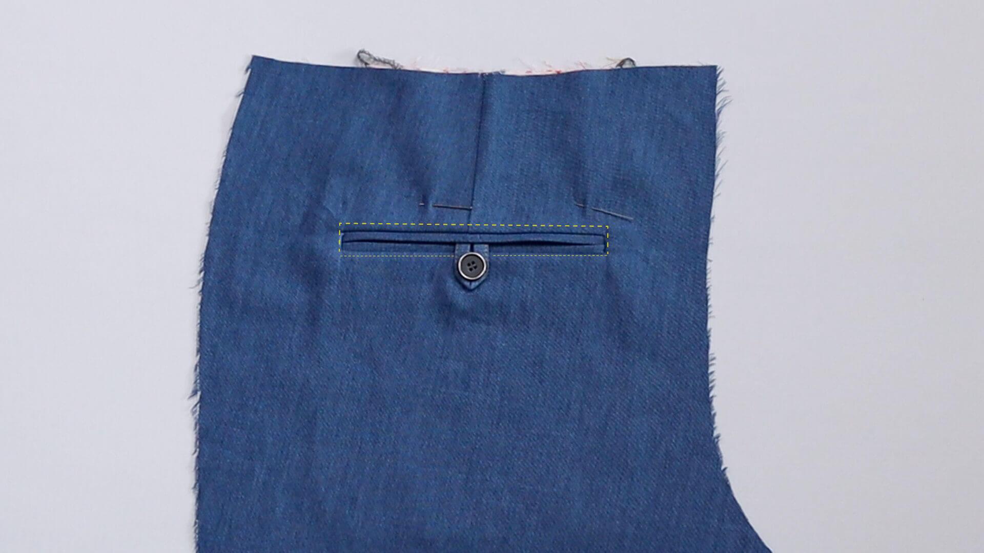 Nähanleitung Doppelpaspeltasche- Feststecken der Tasche vor der oberen, sichtbaren Steppung