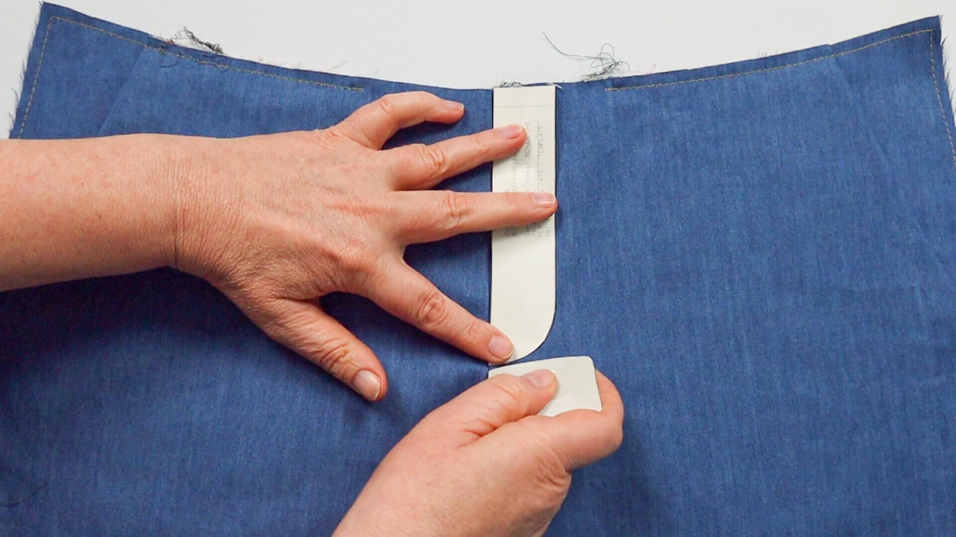 Hosenschlitz mit Reißverschluss selber nähen- Anzeichen der Schlitzsteppung