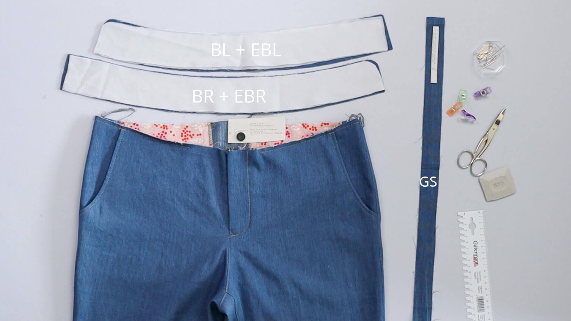 angesetzten Hosenbund #B01 selber nähen- das wird benötigt