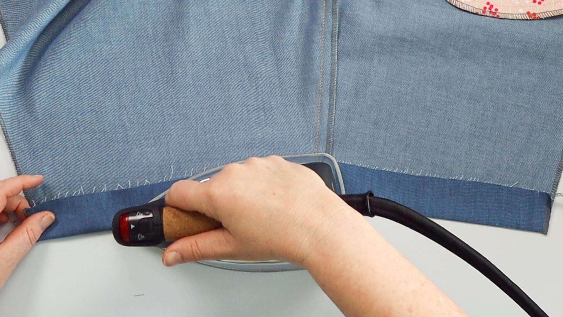 Hosensaum #S01 selber nähen-DIY- Saumeinschlag nach innen bügeln