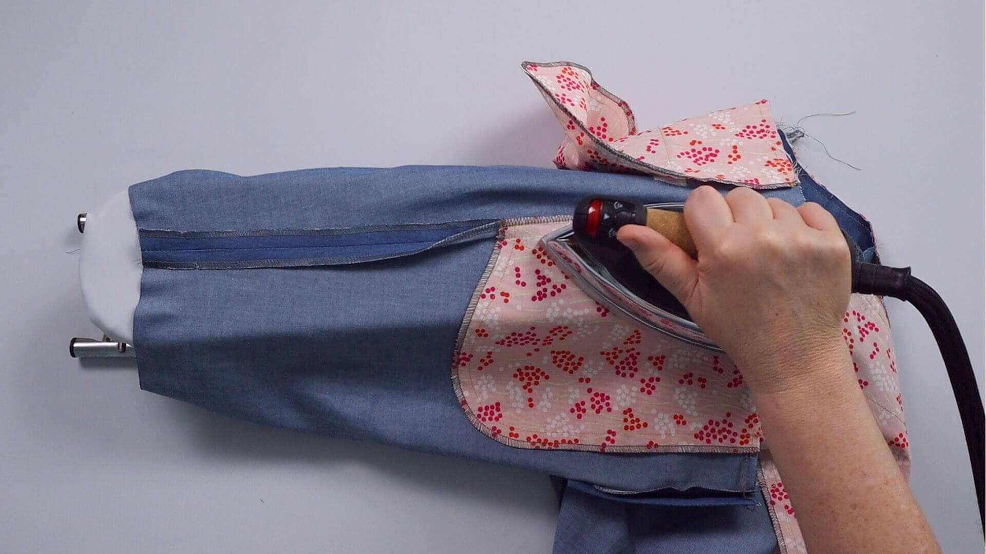 smartPATTERN Anleitung #BE01 zum Mass Hose selber nähen-DIY- bügeln der Außennaht